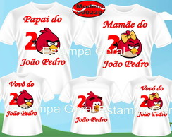 Kit Camisetas Aniversario Angre Birds