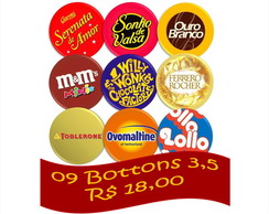 09 Bottons Combo 3,5 - Chocolates