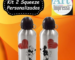 Kit 2 Squeezes Personalizados