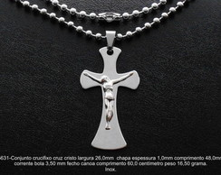 Cruz crucifixo cristo corrente inox-5631