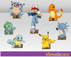 Displays MDF Festa Pokemon Mini Totens
