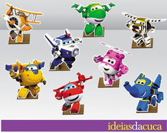 Displays em MDF Festa Super Wings Totens