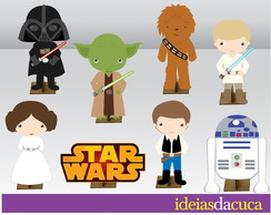 Displays MDF Festa Star Wars Mini Totens