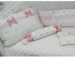 kit berço 8 pcs floral Louise
