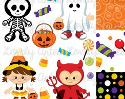 Kit Scrapbook Digital Halloween - 3