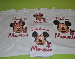 Kit 4 Camiseta Aniversario Mickey Mouse