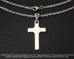 Cruz crucifixo cristo corrente inox-5702