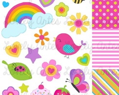 Kit Scrapbook Digital Dia Feliz