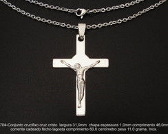 Cruz crucifixo cristo corrente inox-5704