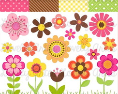 Kit Scrapbook Digital Flores