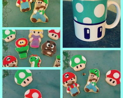 Kit Super Mario Bros - Cookies e Caneca