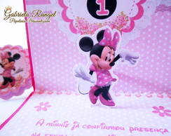 Convite Pop-Up Minnie