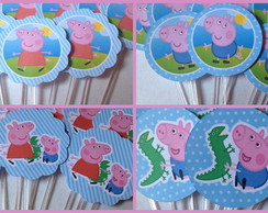 Topper Peppa Pig e George Pig