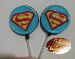 Pirulito de chocolate Superman
