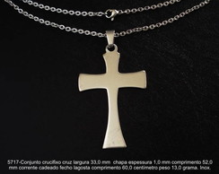 Cruz crucifixo cristo corrente inox-5717