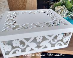 CAIXA MDF DECORADA ARABESCO FLORES