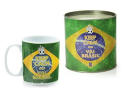 Caneca Decorada Keep Calm And Vai Brasil
