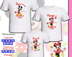 Kit 3 Camisetas Festa Minnie
