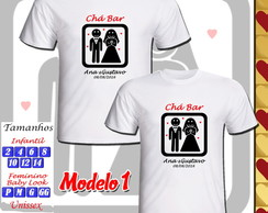 Kit 02 Camisetas Chá Bar Personalizada