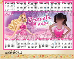Calendario Imã Barbie Princesa
