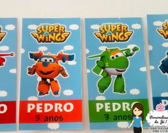 Rótulo Tubete Super Wings