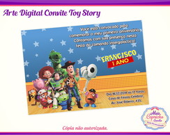 Arte Convite Digital Toy Story