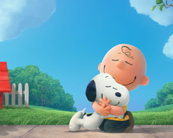 Painel adesivo Snopy e charlie brown