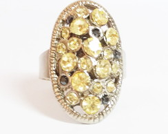 Anel Strass Amarelo