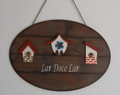 Placa Decorativa - Trio de Casinhas