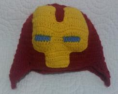 Touca Homem de Ferro de Croche  b3ce4ad4311