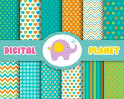Papel Digital - Jungle Fun