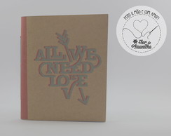 Mini Sketch Book - All we need is love