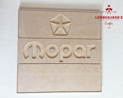 Placa decorativa Mopar MDF cru