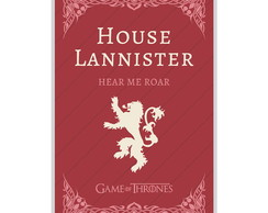 Pôster Game Of Thrones - House Lannister