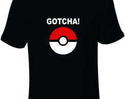 Camiseta adulto Pokebola Gotcha