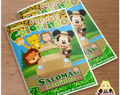 Revista Mickey Safari Personalizada
