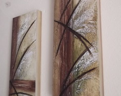 Quadro Decorativo Dupla Telas Abstratas