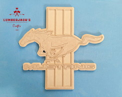 Placa decorativa Mustang MDF cru