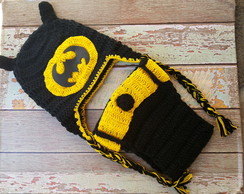 roupa do batman newborn de croche