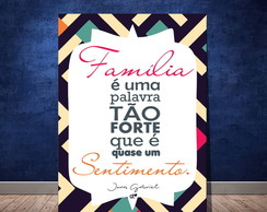 Placa Decorativa - Familia