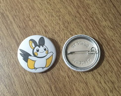 Botton Pokemon Emolga - 2,5cm