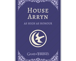O Pôster Game Of Thrones House Arryn