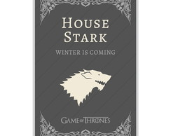 O Pôster Game Of Thrones House Stark