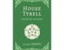 O Pôster Game Of Thrones House Tyrell