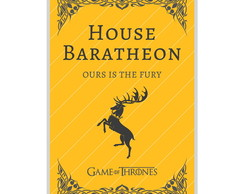 O Pôster Game Of Thrones House Baratheon