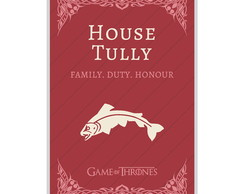 O Pôster Game Of Thrones House Tully