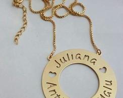 Colar Mandala Nomes Vazados Banhado Ouro   Elo7 f20f9b5afd