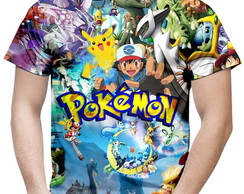 Camiseta Masculina Pokemon Md02