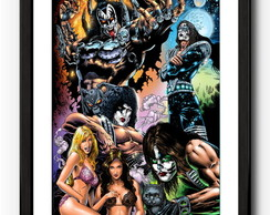 Quadro Banda Kiss - Rock- Metal