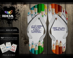 CHINELOS PERSONALIZADOS - DIA DO PROFESSOR